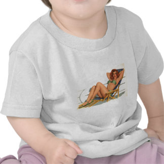 Vintage Pinup Girl Original Coloring 22 T-shirts