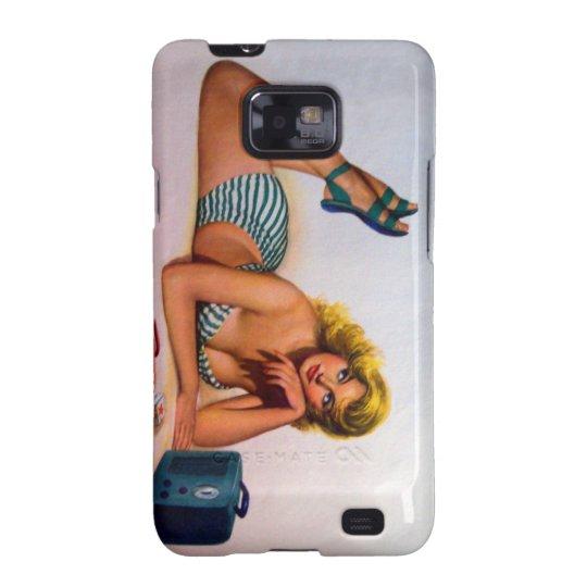 Vintage Pinup Girl Original Coloring 2 Samsung Galaxy SII Cover