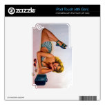 Vintage Pinup Girl Original Coloring 2 iPod Touch 4G Skin
