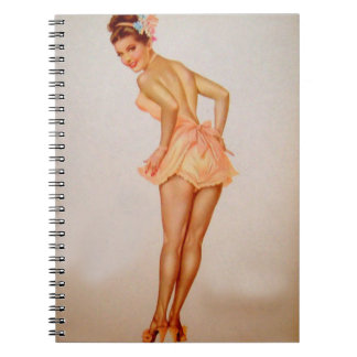 Vintage Pinup Girl Original Coloring 3 Note Book