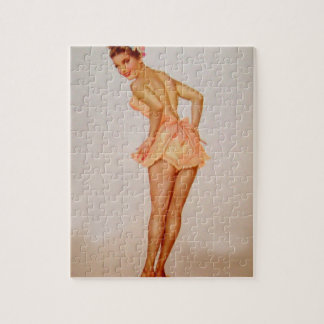 Vintage Pinup Girl Original Coloring 3 Puzzle