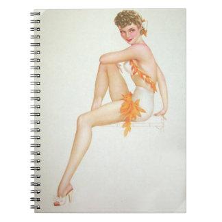 Vintage Pinup Girl Original Coloring 6 Journal