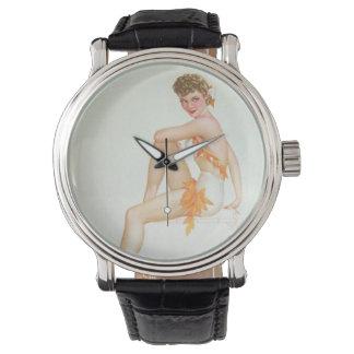 Vintage Pinup Girl Original Coloring 6 Wristwatches