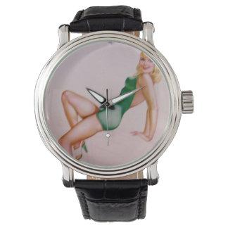 Vintage Pinup Girl Original Coloring 8 Watches