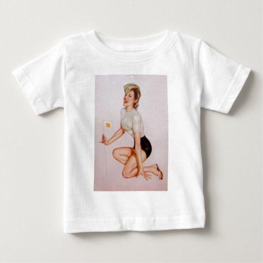 Vintage Pinup Girl Original Coloring 9 Baby T-Shirt