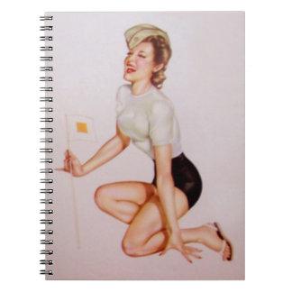 Vintage Pinup Girl Original Coloring 9 Notebook