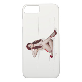 Vintage Pinup girl - Red Passion iPhone 8/7 Case