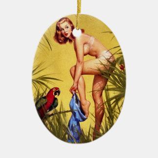 Vintage Pinup Pin Up Girl Gil Elvgren Ornament