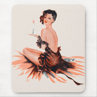 Vintage Pinup Pinup Parisian Candlelight Mouse Pad