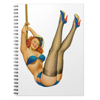 Vintage Pinup Sailor Girl in Stockings First Mate Note Book
