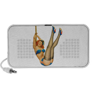 Vintage Pinup Sailor Girl in Stockings First Mate PC Speakers