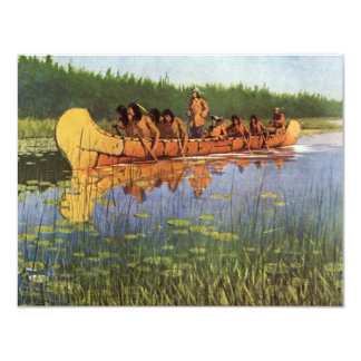 Vintage Pioneers, Great Explorers by Remington 4.25x5.5 Paper Invitation Card