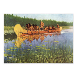 Vintage Pioneers, Great Explorers by Remington 5x7 Paper Invitation Card