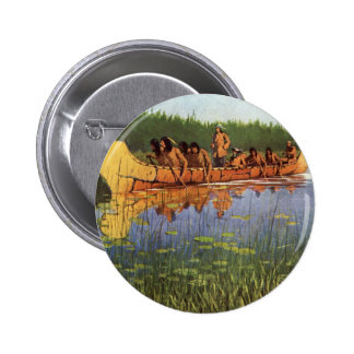 Vintage Pioneers, Great Explorers by Remington 2 Inch Round Button