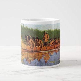 Vintage Pioneers, Great Explorers by Remington Large Coffee Mug