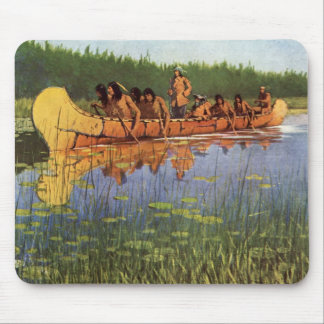 Vintage Pioneers, Great Explorers by Remington Mouse Pad