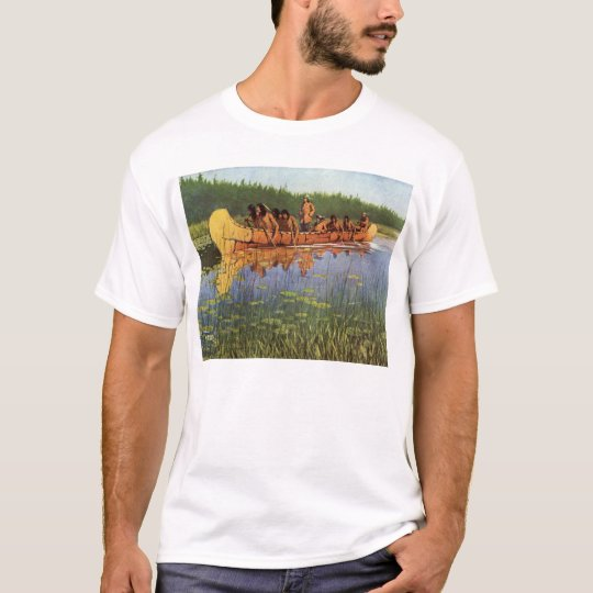 Vintage Pioneers, Great Explorers by Remington T-Shirt