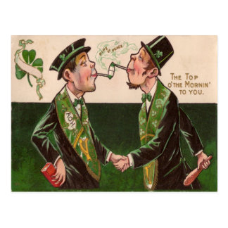 Vintage Pipes of Peace St Patrick's Day Card
