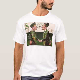 Vintage Pipes of Peace St Patrick's Day Card T-Shirt