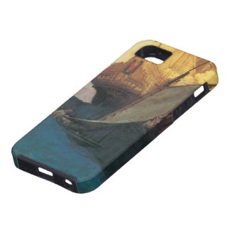 Vintage Pirate, Attack on a Galleon by Howard Pyle iPhone SE/5/5s Case