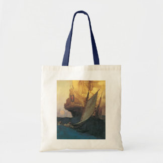 Vintage Pirate, Attack on a Galleon by Howard Pyle Tote Bag