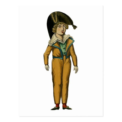 Vintage Pirate Boy Illustration Postcard