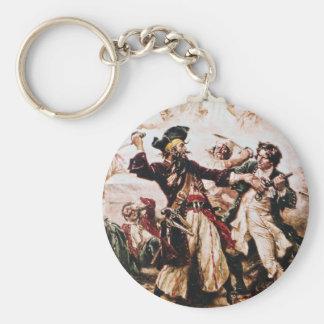 Vintage Pirate Captain Blackbeard Keychain