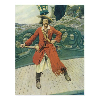 Vintage Pirate, Captain Keitt by Howard Pyle Post Cards