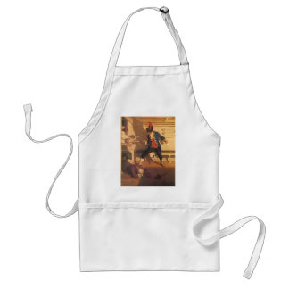 Vintage Pirate Captain, Sword Fight by NC Wyeth Adult Apron