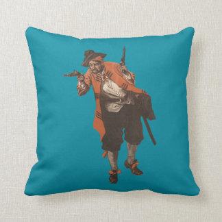 Vintage Pirate Flintlock Pistol Buccaneer Pillow