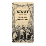 Vintage Pirate Home Brew Beer Label