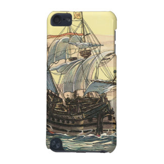 Vintage Pirate Ship, Galleon Sailing on the Ocean iPod Touch 5G Case