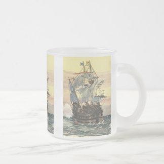 Vintage Pirate Ship Galleon Sailing on the Ocean Mug