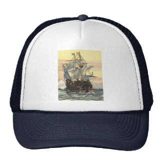 Vintage Pirate Ship, Galleon Sailing on the Ocean Trucker Hat