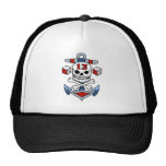 Vintage Pirate Skull, Crossbones, Anchor, Dice Hat