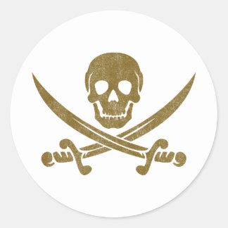 Vintage Pirate Classic Round Sticker