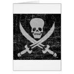 Vintage Pirate Symbol Greeting Card