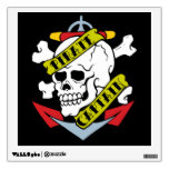 Vintage Pirate Tattoo - Pirate Captain Wall Sticker