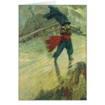 Vintage Pirate, The Flying Dutchman by Howard Pyle Greeting Cards