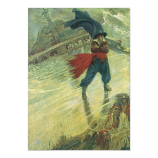 Vintage Pirate, The Flying Dutchman by Howard Pyle 5x7 Paper Invitation Card