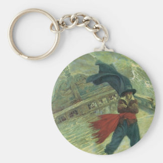 Vintage Pirate, The Flying Dutchman by Howard Pyle Keychains