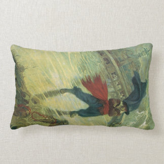 Vintage Pirate, The Flying Dutchman by Howard Pyle Lumbar Pillow