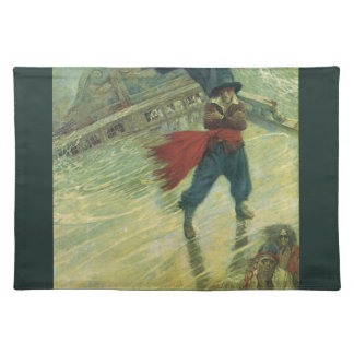 Vintage Pirate, The Flying Dutchman by Howard Pyle Cloth Placemat