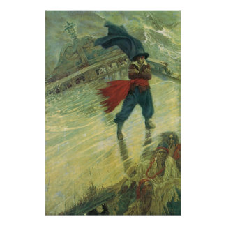 Vintage Pirate, The Flying Dutchman by Howard Pyle Poster
