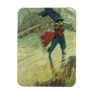 Vintage Pirate, The Flying Dutchman by Howard Pyle Flexible Magnet