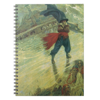 Vintage Pirate, The Flying Dutchman by Howard Pyle Spiral Notebook