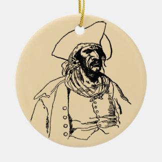 Vintage Pirates, a Buccaneer Sketch by Howard Pyle Ceramic Ornament
