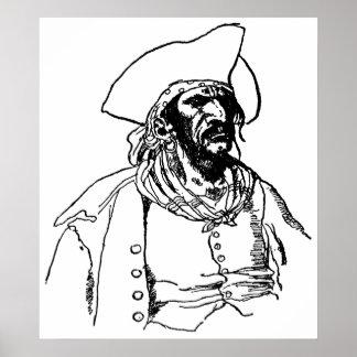Vintage Pirates, a Buccaneer Sketch by Howard Pyle Poster