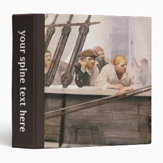 Vintage Pirates Brig Covenant in a Fog by NC Wyeth Binder