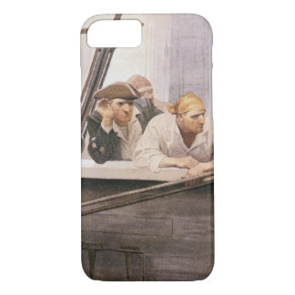 Vintage Pirates Brig Covenant in a Fog by NC Wyeth iPhone 8/7 Case